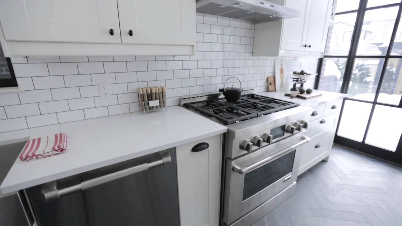 Interior Kitchen Interior Design Crisp Clean Narrow Brooklyn Style Galley