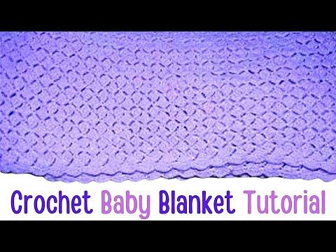 Crochet Shell Baby Blanket Afghan Tutorial Crochet Jewel Youtube
