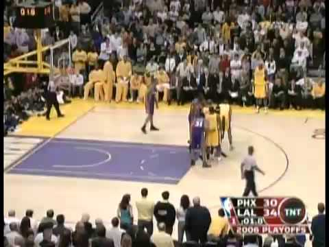 Kobe Bryant Amazing First Quarter Buzzer Beater vs Suns (2006 NBA Playoffs)