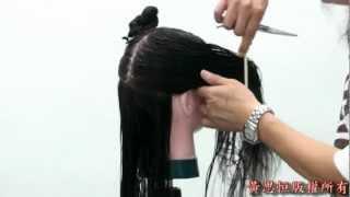 黃思恒編製數位美髮影片-長髮高層次剪髮12-1