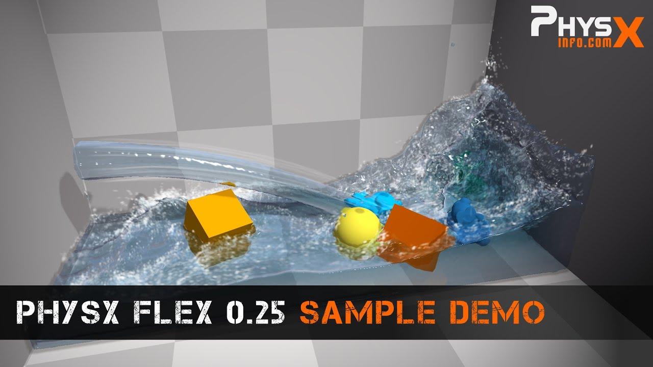 Preliminary PhysX FleX integration into Unreal Engine 4 is