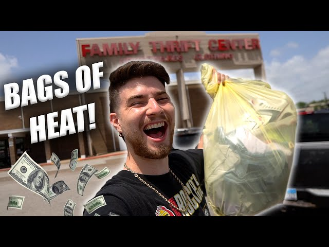 BAG ON BAGS OF SNEAKERS & VINTAGE GEMS! Trip to the Thrift #342
