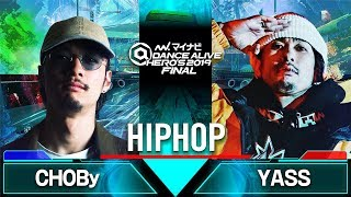 Gambar cover CHOBy vs YASS / HIPHOP QUARTER FINAL / マイナビDANCE ALIVE HERO'S 2019 FINAL