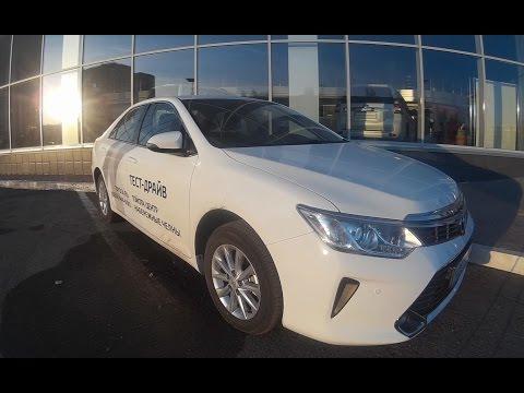 Фото к видео: Toyota Camry 2016 2.0 тест драйв