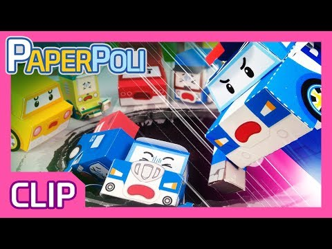 A huge hole on the road? Sinkhole rescue mission! | Paper POLI [PETOZ] | Robocar Poli Special