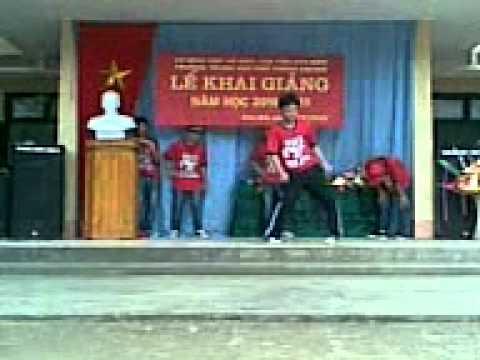 nhảy hip hop tại trường Kim Bôi A