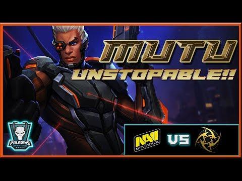 Mutu Lex Gameplay POV | Na'Vi vs NIP | Paladins Premier League 2018  EU