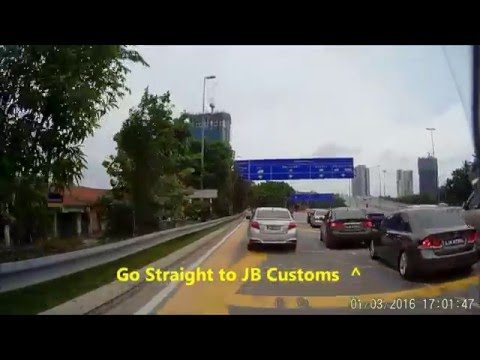 Travel from Singapore to Johor Baru via Causeway (1st Link, on motorcycle)