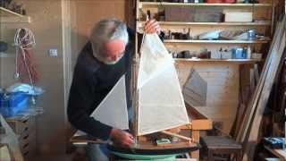 Construction d'un petit cotre 20 - Gréer le bateau.wmv