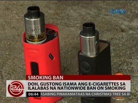 DOH, gustong isama ang e-cigarettes sa ilalabas na nationwide ban on smoking
