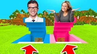 Minecraft PE : DO NOT CHOOSE THE WRONG SECRET BASE! (Boyfriend vs Girlfriend)