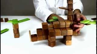 Tegu Sustainable Children's Toys - How To Build A Rhinoceros