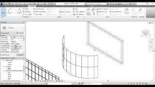 Curtain Walls in Revit Architecture Part One In Arabic
