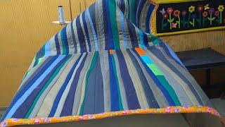 Tapete grande para sala feito de retalhos – Reaproveitamento