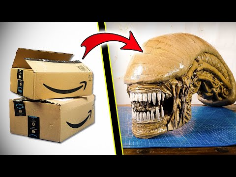 How to make a Xenomorph Head out of cardboard