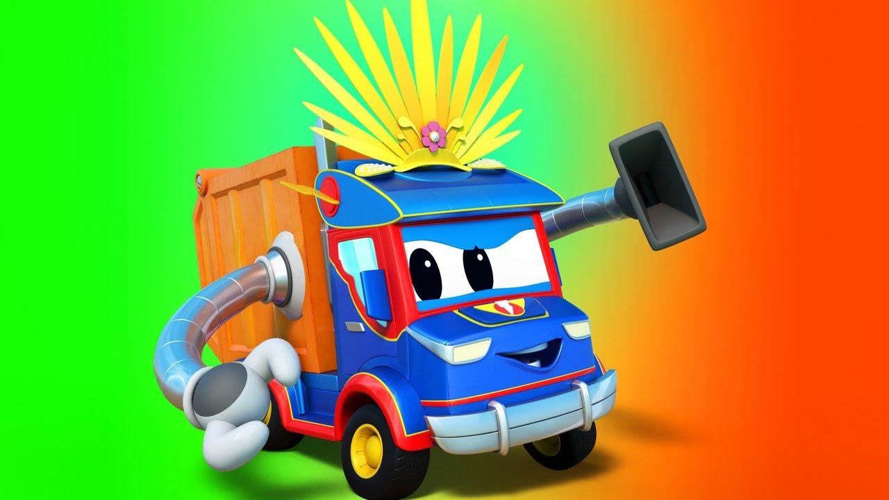 Siêu xe tải – Lễ hội Rio : siêu máy hút bụi và sự cố âm nhạc – Thành phố xe hơi – Hoạt hình xe tải