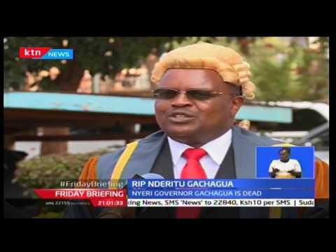 Nyeri residents awoke to the sad news of Governor Nderitu Gachagua succumbs to pancreatic cancer