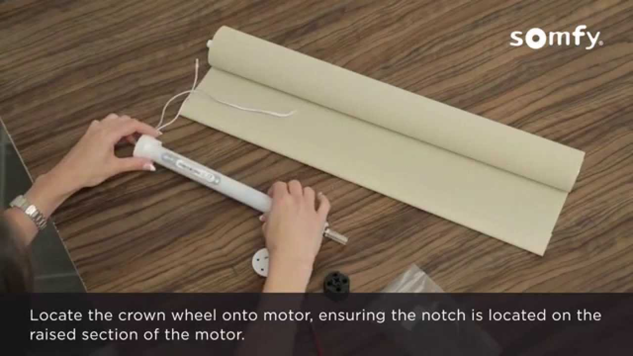 Somfy 28 Rts Motorised Roller Blind Assembly Youtube
