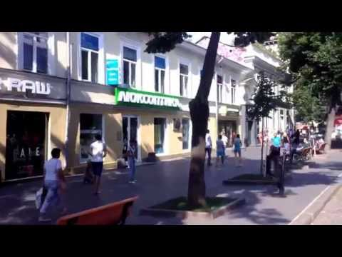 Прогулки по Одессе. Дерибасовская улица. Walking around Odessa. Deribasovskaya street.
