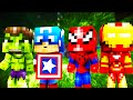 Minecraft - WHO'S YOUR DADDY? - BABY BLOWS UP CAPTAIN AMERICA!? (The Avengers, Hulk, Iron Man)