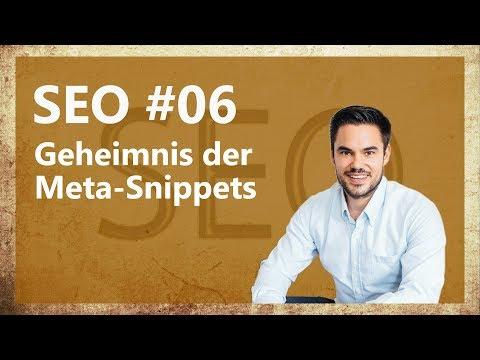 SEO   Das Geheimnis Der Meta-Informationen (Beschreibung Und Titel) / SEO #06