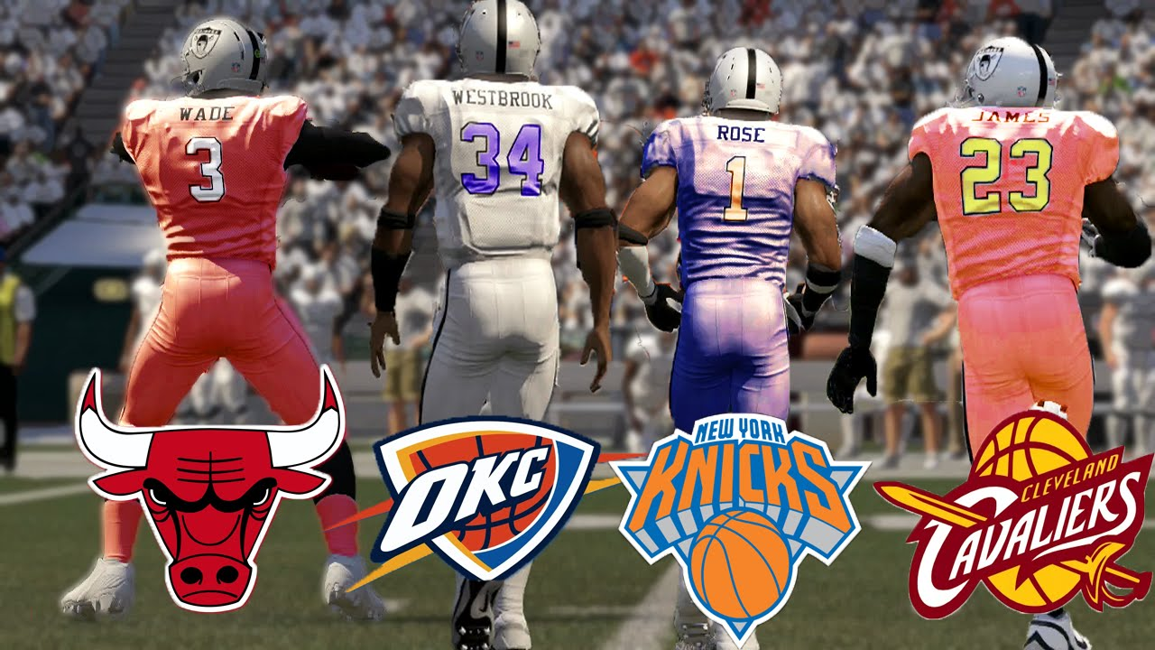 Nba Vs Nfl Madden  Gameplay Madden Challenge