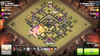 Clash of Clans - Estratégia QueenWalk + GoLaLoon 3Star Th9/Cv9