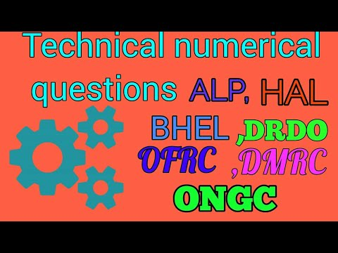 Technical numerical questions for drdo,ongc,ofrc,dmrc,bhel and all technical exams.