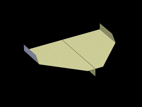 Sky King (2009 World Record) Paper Airplane: 3D Folding