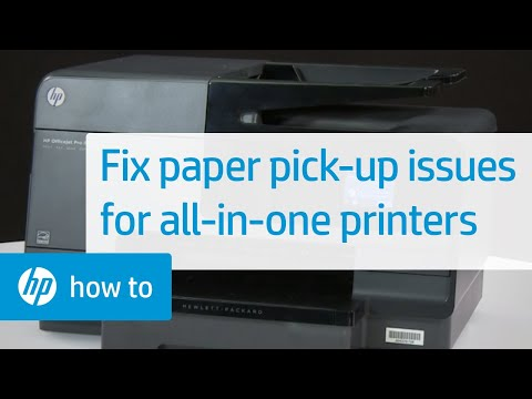 'Out of Paper' Error Displays and the Printer Does Not Pick Paper in All-in-One Printers