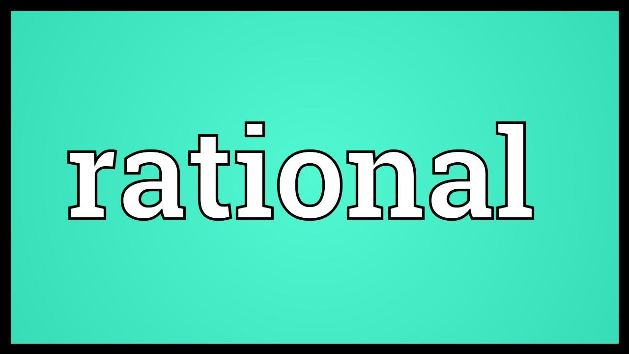 meaning rational