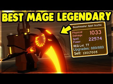 New Best Mage Legendary Beastmaster Spell Scythe Kings Castle Update Roblox Dungeon Quest Youtube