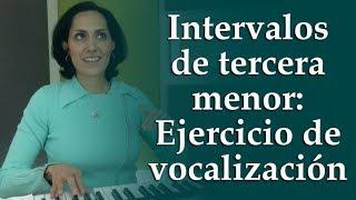 Intervalos de tercera menor: Ejercicio de vocalización