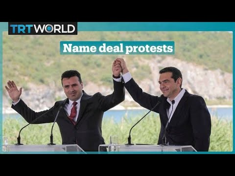 Macedonia: Hundreds protest name change deal with Greece