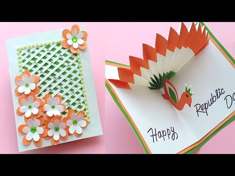 How to make Republic Day Card//Handmade easy card Tutorial