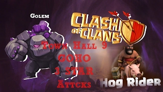 Clash of Clans Town hall 9 War Guide|Perfect War Attack|Always win!!!