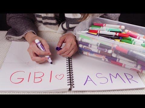 [Gibi ASMR] Testing and Sorting Markers (Whispered)