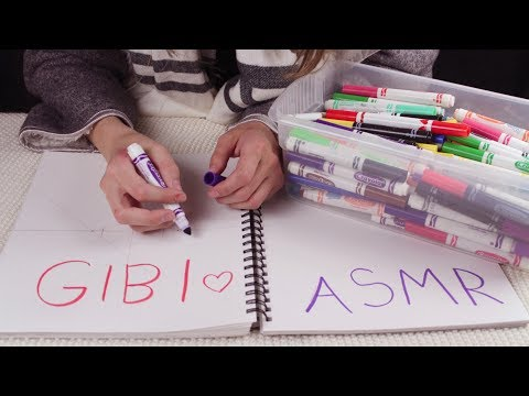 [Gibi ASMR] Testing and Sorting Markers (Whispered)