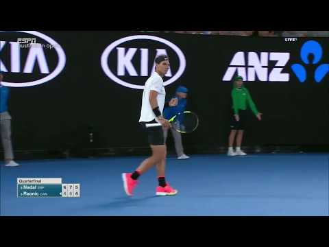 Nadal vs Raonic - Australian Open 2017 QF Highlights