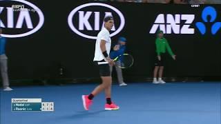 Nadal vs Raonic - Australian Open 2017 QF Highlights