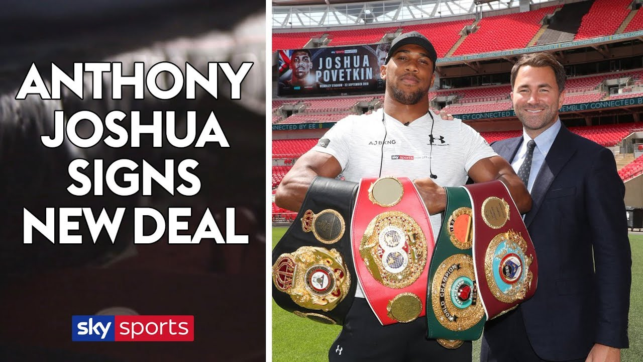 Official! Anthony Joshua Signs New Three-Year Matchroom Deal To Remain On Sky Sports - Youtube