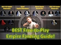 Star Wars Galaxy of Heroes: BEST F2P Empire Farming Guide!