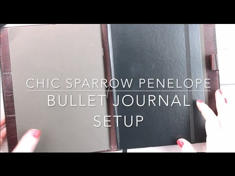 My new A5 Chic Sparrow Penelope and new Bullet Journal Setup