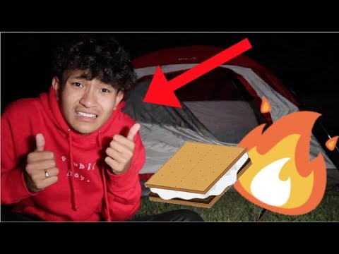 Camping For The First Time!?! (SCARY)