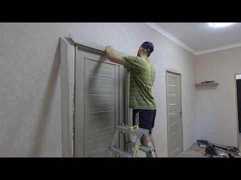 Установка наличников межкомнатных дверей  как правильно установить наличник простой способ установки