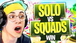 SOLO vs SQUADS Vittoria Reale! Fortnite Mobile Battle Royale