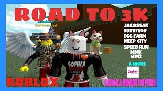 👪 Family Friendly Gaming - Meep City - Jailbreak - Roblox Live merci G-Rated -Kreek 4 les raids