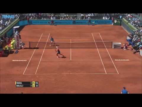 2015 Mutua Madrid Open - Incredible Rafa Nadal winning lob v Bolelli