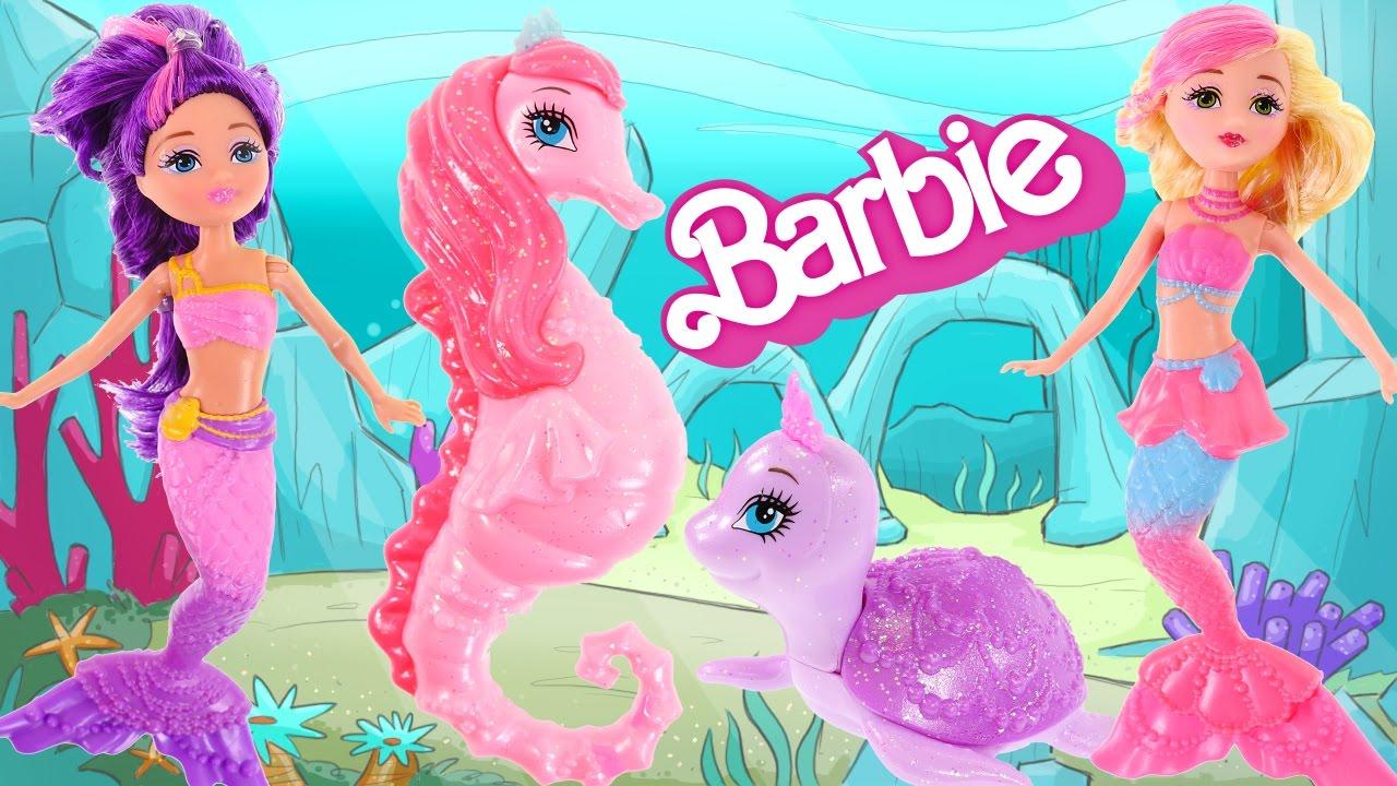 Mini SirenasMascotas La Princesa Barbie Play Muñecas Perlas De Las Peinados Doh 0PwknO