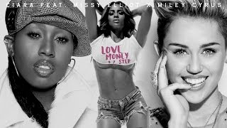 CIARA feat. MISSY ELLIOTT x MILEY CYRUS | LOVE, MONEY, 1, 2, STEP #MASHUP (Audio)